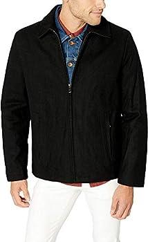 Calvin Klein Men s Wool Open Bottom Coat Black Large