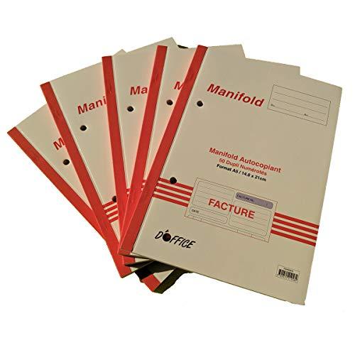 Manifold factuur met gespecificeerde btw. Dupli A5 Grootte: 210 x 148 mm / 21 x 14,8 cm Folio 50 vellen, doorschrijvend EZ Office