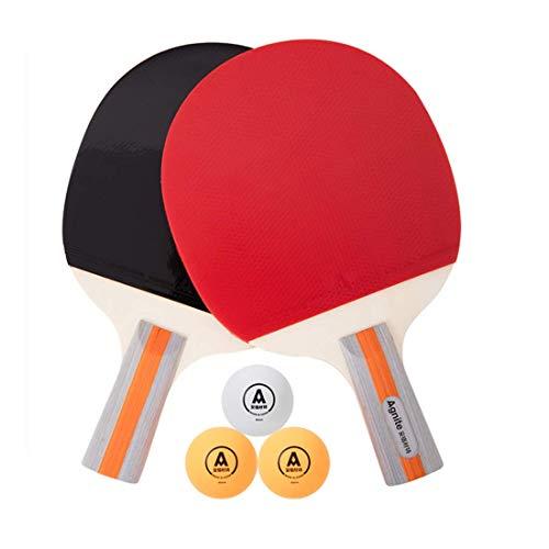 Sale!! HUATINGRHTT Table Tennis Ping Pong Paddle Table Tennis Bats Set, Rubber Ping Pong Paddles wit...