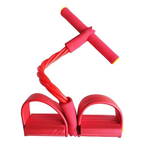 Elastici Fitness Fasce Elastiche 4 Tirare Corde Ginnico Vogatore della Pancia della Fascia di Resistenza Home Gym Sport Training Elastici for Attrezzi Fitness (Color : Rosso)