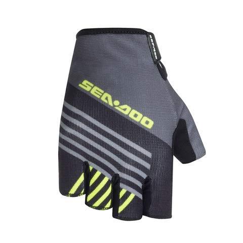 Kurze Handschuhe von Attitude, Unisex, Grün, ideal für Windsurfen, Kitesurf, Wakeboard, Jetski mit Verstärkungen aus Spandex, elastisch, Fingerspitzen (S)