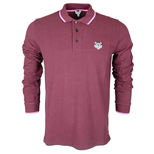 Kenzo Polo-Shirt, langärmelig, Burgunderrot Gr. S, burgunderfarben