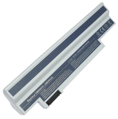 10,80V 4400mAh Batterie Li-Ion Compatible pour ACCEL UM09H31, UM09H36, UM09H41, Batterie de remplacement pour ACCEL Aspire One AO533-KK3G, ACCEL Aspire One 532, Aspire One 533 Serien