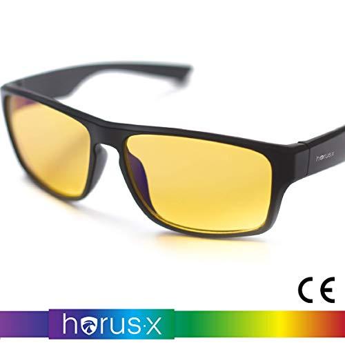 Horus X - Occhiali luce blu gaming con filtro anti luce blu >90% - Occhiali riposanti per gamer PC TV