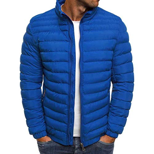 Hoodieswj Mens Down Jacket winterjas katoen parka trenchcoat dik gewatteerde jas thermische ritssluiting top kleur uni