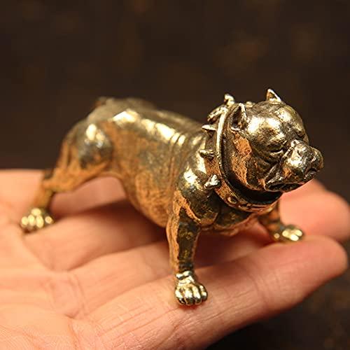 Vintage Pure Copper French Bulldog Statue Desk Ornament Craft Accessory Metal Brass Dog Figurines Home Decor