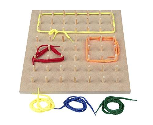 Carlu Brinquedos - Geoplano Jogo Educativo, 4+ Anos, Multicolorido, 9801