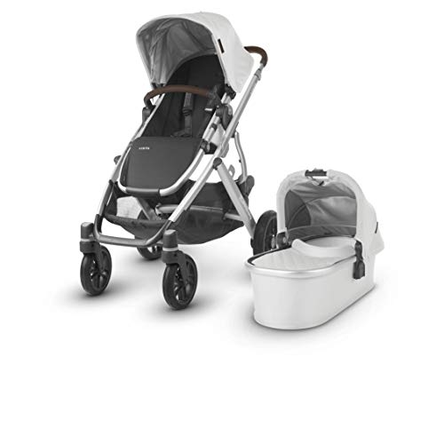 Review UPPAbaby Vista Stroller, Bryce (White Marl/Silver/Chestnut Leather), Standard