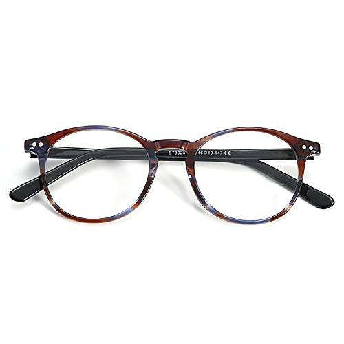 ZENOTTIC Vintage Runden Brillenrahmen Nerdbrille Ohne Sehstärke Retro Klare Linse Gläser für Damen und Herren