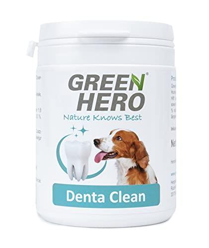Green Hero DentaClean zur effektiven Zahnpflege und Zahnreinigung für Hund Hilft bei Zahnstein Plaque Zahnbelag sowie Mundgeruch Maulgeruch 175g