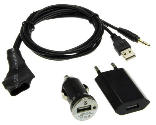 Auto Bluetooth AUX IN adapterkabel + jack plug + laad sigaretten aansteker voor Skoda Seat auto radio set