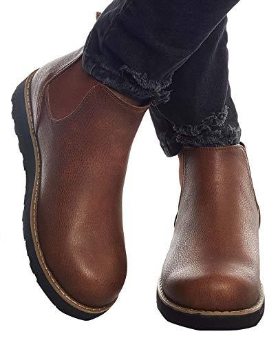 Leif Nelson Herren Schuhe Klassische Stiefel Freizeitschuhe Boots Elegante Winterschuhe Männer Sneakers LN159; 42,Camel
