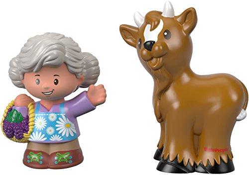 Fisher-Price Little People Grandma Helen & Goat Figures