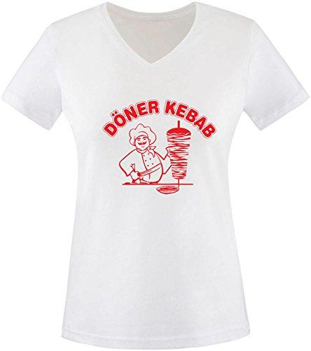 EZYshirt® Döner Kebap Damen T-Shirt V-Neck