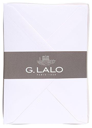 G.Lalo 27292L Karten Set Vergé de France (50% Hadern mit 40 Karten Vergé Papier 210 g, 107 x 152 mm, modern, farbig sortiert, 40 Umschläge, gefüttert, 114 x 162 mm, 1 Pack) weiß
