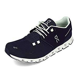 ON Running Mens Cloud Mesh Navy White Trainers 12.5 US