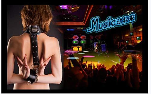 Apoart 3D Wandtapete Ballsaal Sklavin Sex Bar Nachtclub Schönheit Schönheit Werkzeugwand140X100Cm(55.11By39.37In)