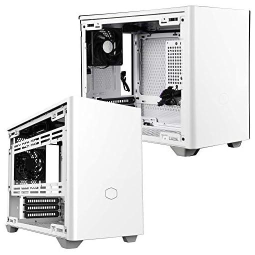 Cooler Master NR200 Caja Mini-ITX de Factor de Forma pequeño SFF Blanco con Panel ventilado, GPU de Triple Ranura, sin… 14