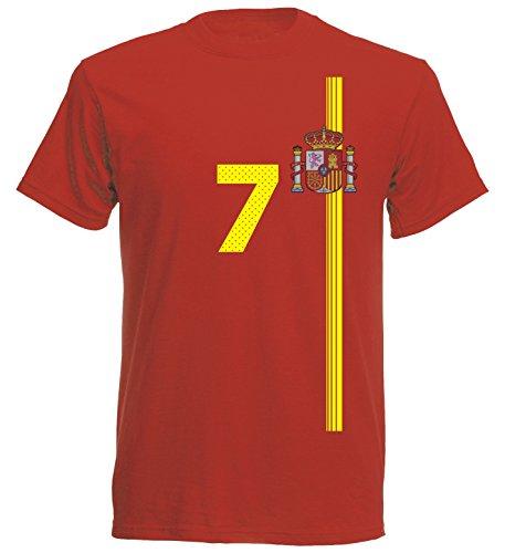 Spanien Kinder T-Shirt Trikot St-1 EM 2016 - rot Espana Spain Kids (116)