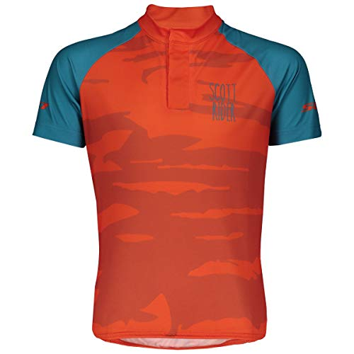 Scott RC Team Junior Kinder Fahrrad Trikot kurz orange 2019: Größe: XL (164)