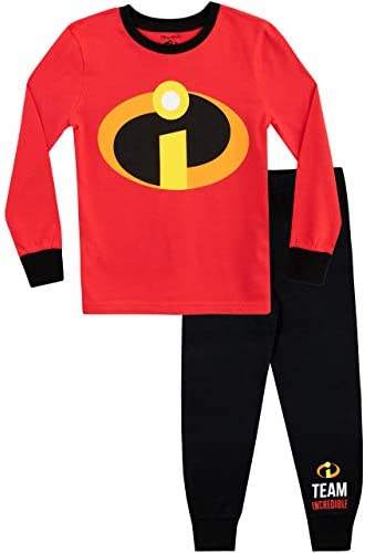Disney Boys The Incredibles Pajamas Size 5 Red product image