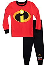 Disney Pijamas de Manga Larga para niños The Incredibles Ajuste Ceñido Rojo 4-5 Años