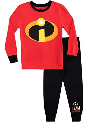 Disney Pijamas de Manga Larga para niños The Incredibles Ajuste Ceñido Rojo 2-3 Años