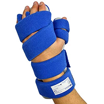 Stroke Hand Brace by Restorative Medical | Functional Resting Hand & Wrist Night Splint - Corrective, Supportive Brace for Correction, Comfort & Pain Relief (Large - Left w/Finger Separators)