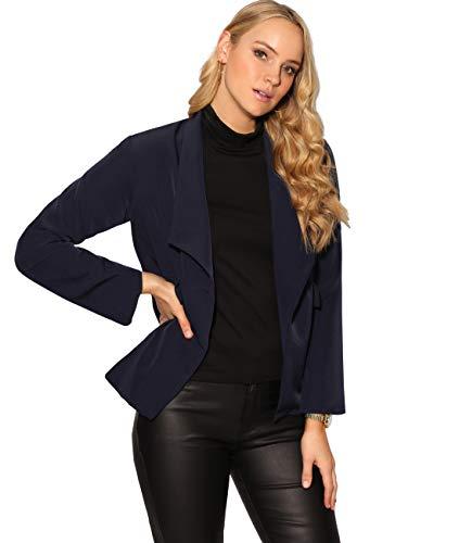 KRISP KRISP Damen Business Blazer Jacke (Marineblau, Gr.XS) (3088-NVY-XS)