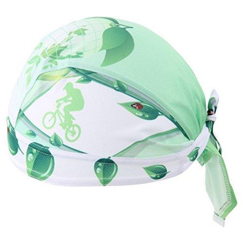AHATECH para Hombre Transpirable Suave al Aire Libre Senderismo Ciclismo Deporte Cap pañuelo en la Cabeza Pirata Bandana Diadema con Sombrero Verde