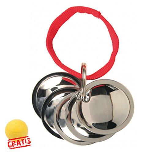 TRIXIE Trainings-Discs 5 Metall-Discs Verchromt am Nylonband Für Hunde 2288 +BALL Gratis