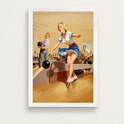 YWOHP Pop Art Work Girl Beauty Poster e impresión en Lienzo Pintura Arte de la Pared decoración de Imagen Retro decoración del hogar-No_Frame_40x50cm_1