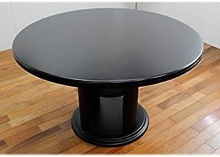 【ダイニングテーブル 無垢材 北欧風 モダンダイニング】エレガント120cmダイニングテーブル(円型) DBR(ダークブラウン)