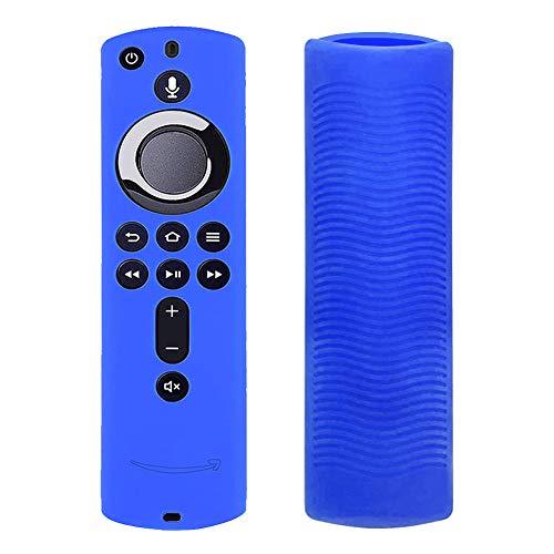 Matedepreso - Cover in Silicone Antiscivolo per Telecomando Fire TV Cube, Red, Taglia Libera (blu)