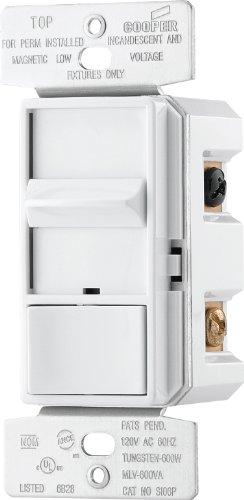 EATON SI06P-W-K Core Skye Preset Decorator Full Slide Dimmer, 600 W, 120 Vac, 1 Pole, White