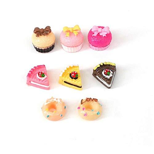AAGOOD 8pcs 1/12 Mini Cake Decoración del Dollhouse Comida para Jugar Juego De Cocina Torta De Alimento De Los Anillos De Espuma para La Decoración del Dollhouse Cocina Stress Relief Regalo