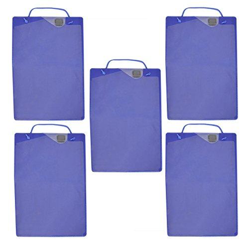 PROPLUS Werkstattauftragstaschen 5x 10er Pack Blau Schlüsselfach DIN A4 Werkstatt Auftragstaschen Taschen Auftrag Schlüssel Fach Werkstattauftrag Reparatur Mappe