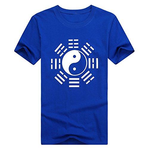 ICNBUYS Camiseta Tai Chi Mujer Ocho Trigramos Azul XS