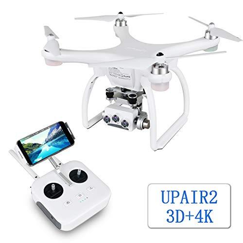 UPAIR Two 3D4K Drohne mit Kamera 4K,GPS Drohne mit 4K, optische Flusspositionierung, automatische Rückkehr, Follow-me, automatische Rückkehr, drohne für Erwachsene