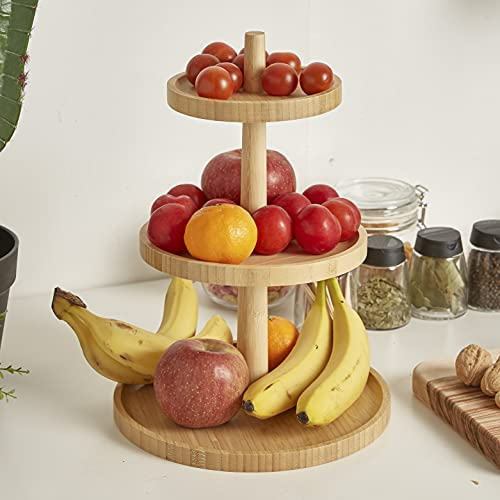 3 tier wooden cake stand _image1