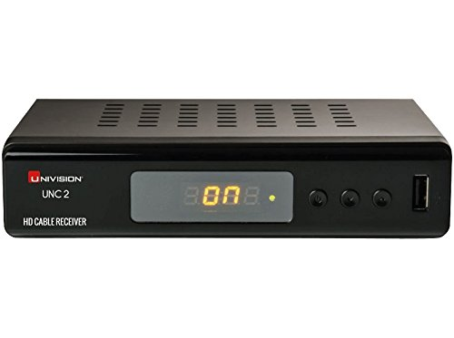 Univision UNC2 Kabel Receiver (Full-HD, HDMI, SCART, Coaxial, USB, Mediaplayer) schwarz