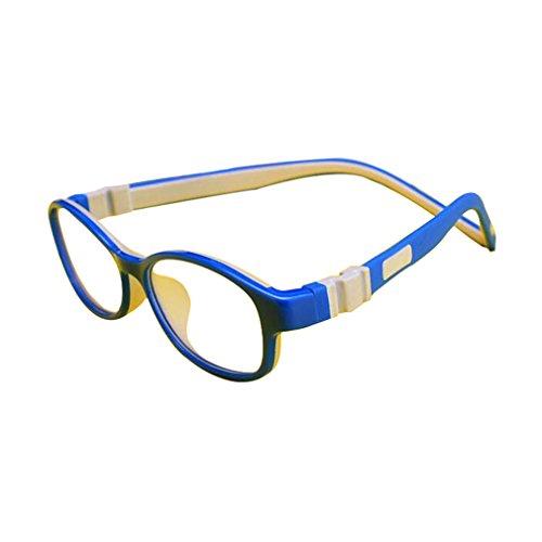 Juleya Juleya Kinder Gläser Rahmen - Silikon - Professionel Kinder Brillen Clear Lens Retro Reading Eyewear für Mädchen Jungen - 180710ETYJJ03