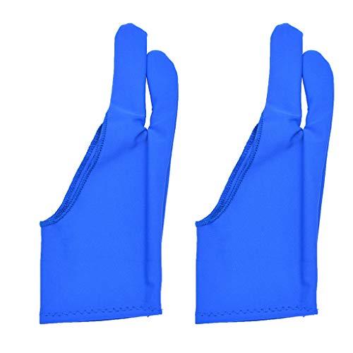 1 paire de gants anti-salissure à deux doigts pour dessin graphique, tablette, gants d'hiver pour écran - Pour homme et femme