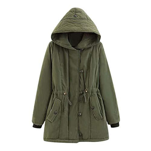Abrigos y Chaquetas Ropa de Abrigo para Mujer Abrigo con Botones de Piel SintéTica Chaquetas Largas y SóLidas Abrigos de Bolsillo