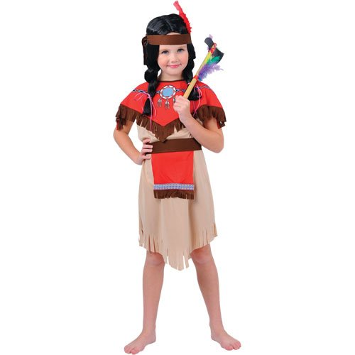 Native Indian Girls Costume de déguisement taille medium