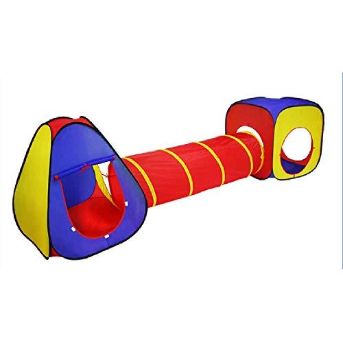 XYLUCKY Piscina De Bolas, Tienda De Juegos Y Túneles, Juego De 3 Túneles De Rastreo para Tiendas De Campaña Y Pozo De Bolas Niños Y Niños Pequeños En Interiores O Exteriores