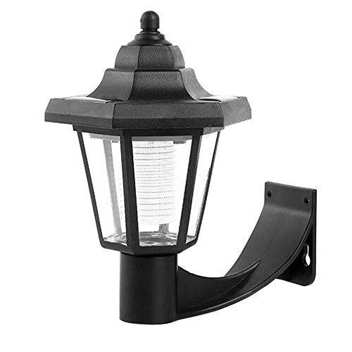 Ahomi Solar LED wandlamp, waterdicht, buiten, tuin, landschap, hexagonaal licht