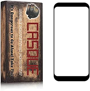 لاصقة حماية زجاجية 5 دي بحجم شاشة الهاتف لهاتف هواوي اونر 10 لايت من كاسكي ، اسود