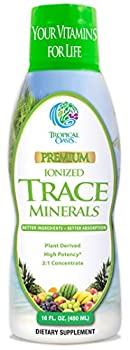 Tropical Oasis - Premium Ionized Plant Based Trace Minerals Liquid Formula- 74 essential minerals in liquid form for up to 96% Absorption - 16 oz 32 servings