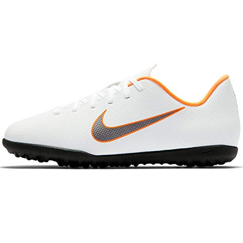 Nike Mercurial Vapor X 12 Club TF JR AH7355 1, Botas de fútbol Unisex niños, Mehrfarbig Indigo 001, 32 EU